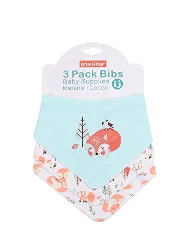 Enfant Bébé Bandana Dribble Bavettes avec Boutons De Presse Coton 0-3 Ans Pack De 6Pieces Pack,Forestfox