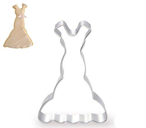 DreamFlying Wedding Dress-Gonna serie di stampini per biscotti, in acciaio INOX Fishtail Skirt
