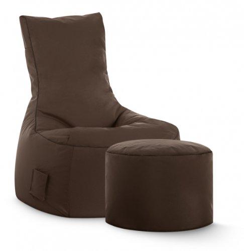 Sitzsack-Set Scuba Swing + Hocker braun