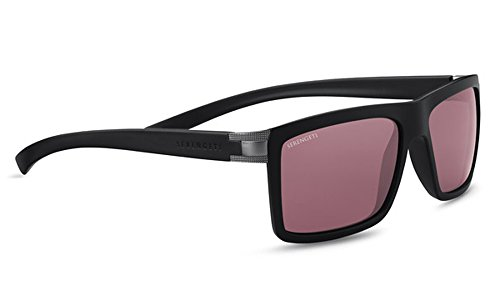 Medium Grey Satin (Serengeti Brera Sonnenbrille, Uni, 8545, Brera Large Sanded Dark Grey/Satin Medium GunMetalPolarized Sedona)