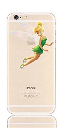 Phone Kandy® Clear/Transparent klar/durchsichtig hard case for iPhone Cartoon Hülle Abdeckung Haut tascen (iPhone 5 5s SE, Tinkerbell #2)