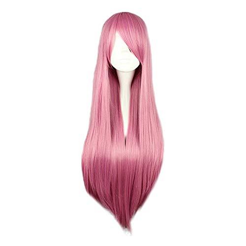 Kostüm Frauen Perücken Farbige - Luckhome Perücke Frauen Damen Haar Lang Wig Für Karneval Fasching Cosplay Party Kostüm Weiblich 80cm /