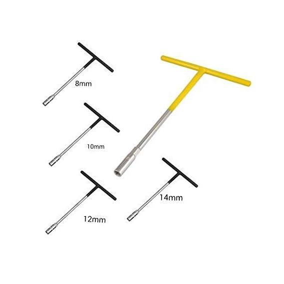 Inditrust Chrome Vanadium Steel Tool Kit Set For Home And Office T Spanner (Combo) (8MM,10 MM,12MM,14 MM)