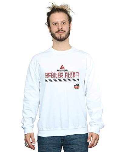 The Big Bang Theory Herren Spoiler Alert Sweatshirt Weiß Large -