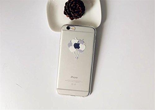 Cover iPhone 6/6S Case MUTOUREN Conchiglia Custodia TPU Silicone Case Caso Guscio Shell Flessible Bumper Ultra fina Posteriore Caso Protettiva Smartphone - modelli dipinti fragole creativo13