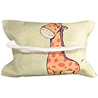 JINSH Home Pañuelo de Dibujos Animados Lindo Animal Tapa de Dibujos Animados Toallitas Sujetador de Tejido Dispensador.