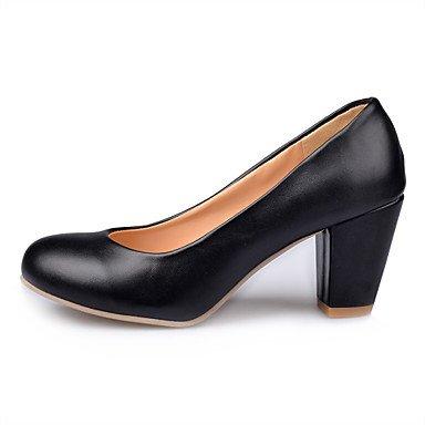 Zormey Les Talons Des Femmes Été Automne Fleur Confort Chaussures Fille Bureau Pu &Amp; Carrière Casual Robe Talon Walking US1.5 / EU31 / UK0.5 / CN30