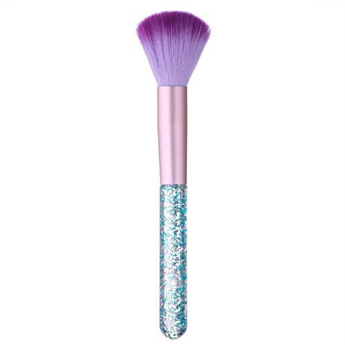 Pinceau Fond de Teint Professionnel Kabuki pour Maquillage du Visage - Parfait Pour le Mélange Liquide, Crème ou Poudre Cosmétique Sans Défaut - Polissage, Pointillé, Anticernes (C)