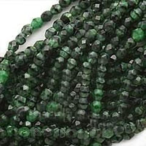 Czech Fire Polish Glass Beads 4mm Round Green Malachite (50) by Jablonex