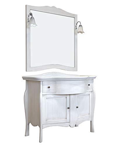 Artigiani Veneti Riuniti Landhausstil Kommode mit Waschbecken für  Badezimmer, Kommode aus Holz mit Waschbecken Spiegel Lampen für  Einrichtung, ...