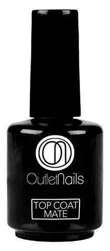 UV Top Coat Mate 15ml uñas/Ideal uñas gel esmaltado