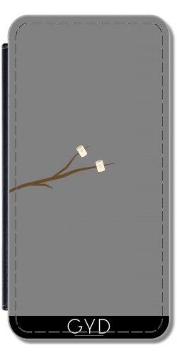 Funda Carcasa Cubierta de PU Cuero para Samsung Galaxy S2 (GT-I9100) - Malvaviscos En El Palillo by