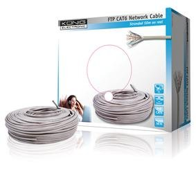 König CMP-FTP6R50 Câble FTP Cat6 Blanc