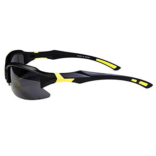 Pkfinrd Männer und Frauen polarisierten Sport Sonnenbrillen Jugend Angeln Baseball Bike Laufen Fahren Golf Motorrad TAC Brille@Schwarzer Sand gelb