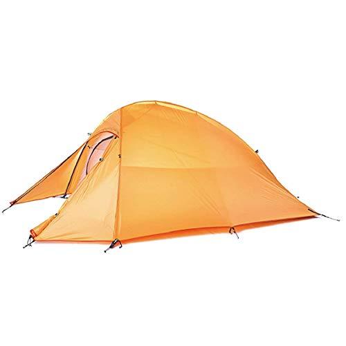 TRIWONDER 1-2-3 Person 4 Saison Camping Zelt Leichte Wasserdichte Doppelschicht Backpacking Zelt für Camping Wandern (Orange - 1-2 Person)