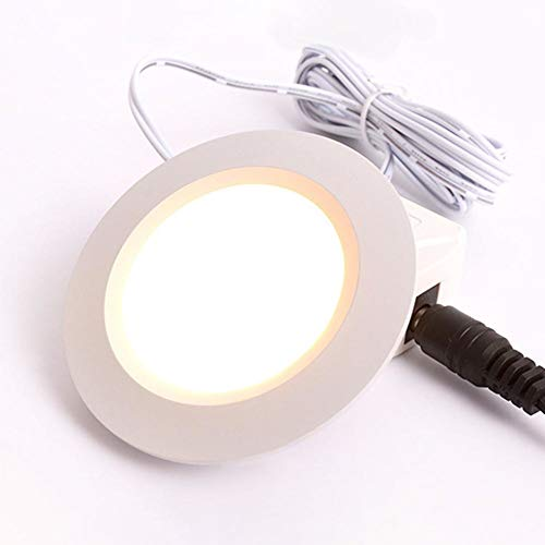 12V Ultra-Thin Concealed Mini LED Downlight LED Display Kitchen Under Cabinet Light With 2M Terminal Cable LED Lighting For Home Mini Thin Led