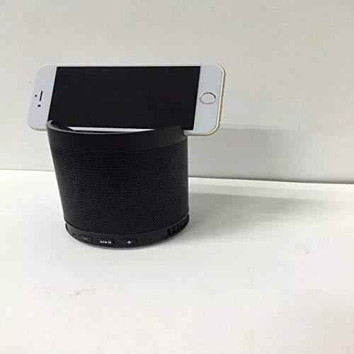 qiaynCreative Bluetooth Haut-Parleur extérieur Hfq3 Mini Haut-Parleur Portable sans Fil Support de téléphone Portable Bass Cannon Branchez-Vous dans Sound-in Portable Haut-parleurs Noir