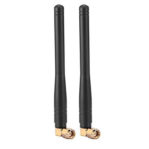 SMA 4G Antenne 9DBI GSM High Gain 4G LTE Antenne Hochleistungs Wifi Signal Booster Verstärker Modem Adapter Netzwerk Empfang Langstrecken Antenne Empfänger für Mobile Hotspots 2Pack (Schwarz)