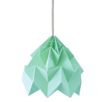 Petite Suspension Origami Moth Menthe Diam 20 cm Snowpuppe