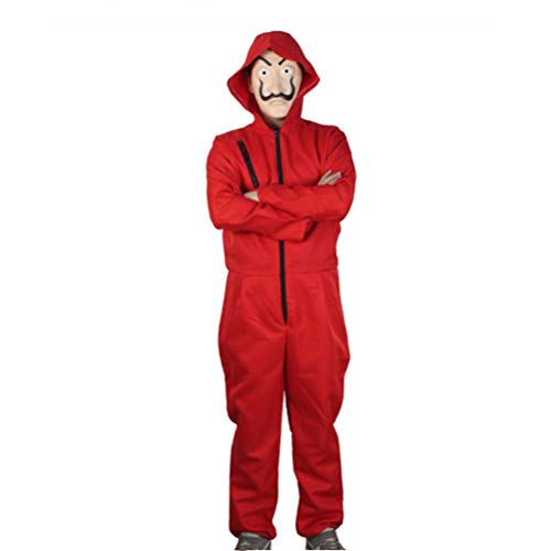 Jason Overall Kostüm - Halloween Clown Kostüm, Halloween Cosplay Kleidung Overall Kleidung Halloween Party Kostüme Rotes Jumpsuit Clown Kostüm
