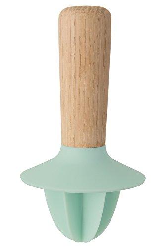 BergHOFF Leo Citrus Manuelle Hand Saftpresse mit Buche Holz Griff, grün, 11,5x 19,4x 7,3cm