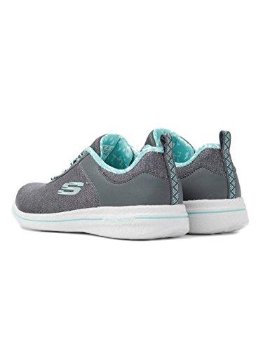 Skechers Burst 2.0-Sunny Side, Allenatori Donna Grigio (Charcoal/blue)