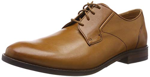 Clarks Herren Edward Plain Derbys, Braun (Tan Leather), 45 EU (Von Schuhe Clark)