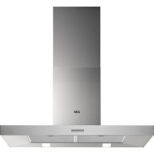 AEG DBB3950M Square Dunstabzugshaube / zuverlässiger Dunstabzug / Abluft und Umluft möglich / ideal als Abzugshaube / Breite: 89,8 cm / Dunsthaube mit Kohleaktivfilter und Fettfilter