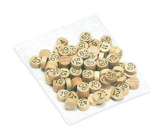 JeuJura - 8988 - jeu de société en bois - Sachet de 90 pions de loto en bois