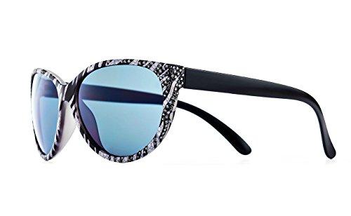 d72a6763d7 Jimmy Crystal New York Women s Sunglasses black schwarz weiß silber One size