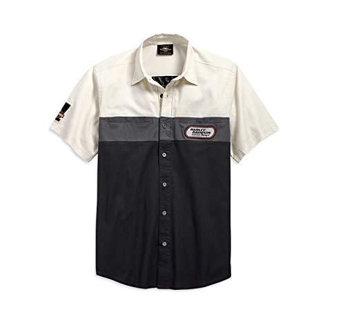 HARLEY-DAVIDSON® Men's H-D Racing Colorblock Shirt - 99166-19VM - Snapdown Shirt