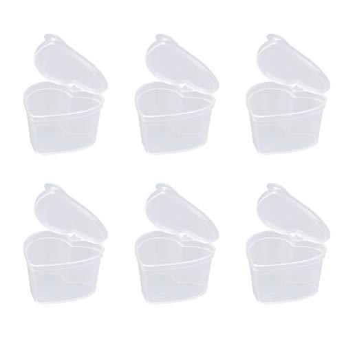 Perlenbox Sortierbox Dessertbecher Eisbecher Einwegbecher Einweg Plastikbecher mit Deckel Fingerfood Becher für Perlen Sauce Joghurt Pudding 45ML ()