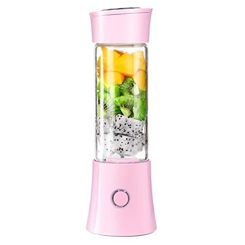 Xiaoxi Tragbarer Blender, USB Rechargeable Juicer Cup, Mobiler Standmixer,Mini Smoothie Maker Fruit, Baby Food Entsafter Mit Powerful Motor Larger Stronger,Pink (Blender-cup Mini)