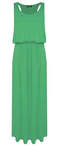 Generic Damen Kleid Kleid, Einfarbig * Jadegrün