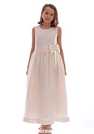 Girls cream dress wedding christening 6 12 month 9 10 for 12 month dresses for wedding