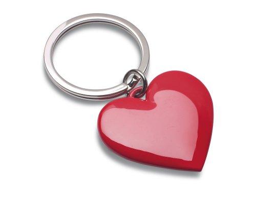 Reflects portachiavi in metallo, corpo a forma di san valentino e giorni proposal almere rosso