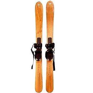 Kinder Ski, Anfänger Wintersport-Spielzeug Schlitten Dauerhaft Schnee Massivholz-Ski Mit Bindungen Für 4 Jahre Und Jünger