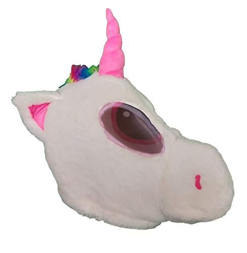 Plüsch-Pferd Tierkopfmaske Halloween Einhorn Maskottchen Kostüm