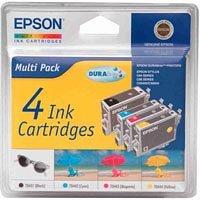 Epson DURABrite Mulitpack HC Tinte sw/c/m/g Stylus C84/C86/CX6400/CX6600 - 84 Schwarz-tintenstrahl