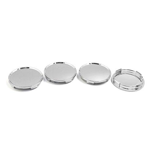 sourcingmap® 4stk. 63mm Durchmesser Silber Ton Rad Mitte Naben Kappe Abdeckung Schutz für Auto