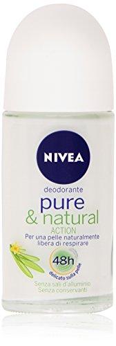 Nivea - Deodorante Pure & Natural, Senza Sali d'Alluminio, Senza Conservanti - 50 ml
