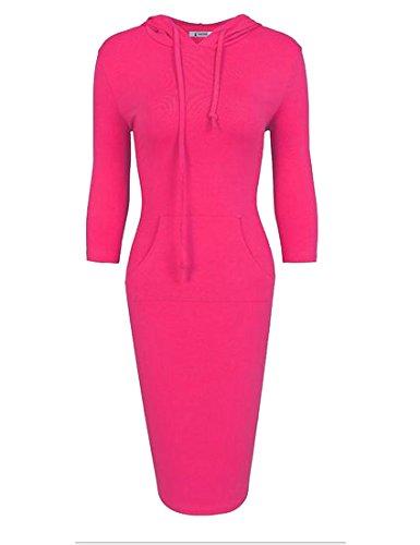 Tootlessly-Women Damen Kleid Gr. X-Large, rosarot Blue Floral Sun-kleid