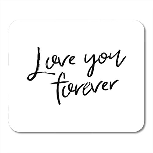 """Preisvergleich Produktbild HOTNING Gaming Mauspads,  Gaming Mouse Pad Amour Lettering Creative Phrase Romantic Text Love You Forever Beautiful 11.8""""x 9.8"""" Decor Office Nonslip Rubber Backing Mousepad Mouse Mat"""