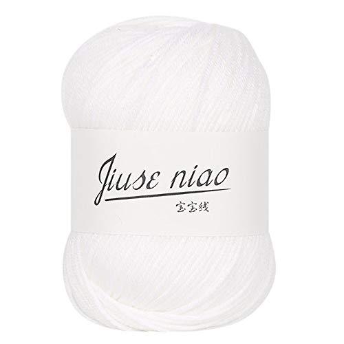 FeiliandaJJ 50g 13 Farben Wolle Zum Stricken & Häkeln Handstrickgarn,Hautpflege Kaschmir Milch Baumwolle,Einfarbig Super Weich Wolle Perfekt für Hüte Pullover Schal (G)