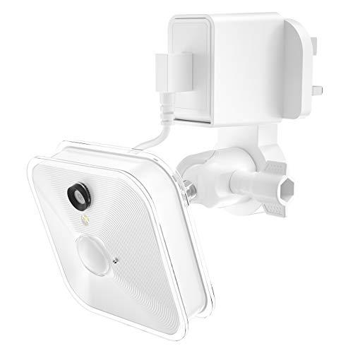 LUXACURY Blink XT Wandhalterung mit Netzteil Adapter Ladekabel, Netzadapter für Mount Blink XT Home Security Kamera System Zubehör mit Wandhalterung Halter, weiß Home Security-kamera-system