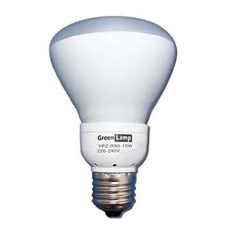 R80 15w = 75w Ampoule compacte basse consommation avec réflecteur pour lampe ES/6400 K