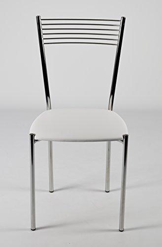 Sedie Da Cucina In Acciaio.Set 4 Sedie Per Cucina E Sala Da Pranzo Moderne Con Robusta