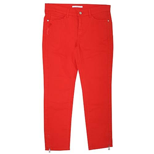 MAC JEANS, 7/8 Angela Zip Tropical, 7/8 Damen Jeans Hose, Gabardine Stretch, feuerrot, D 44 Inch 34 L 27 [21646] -