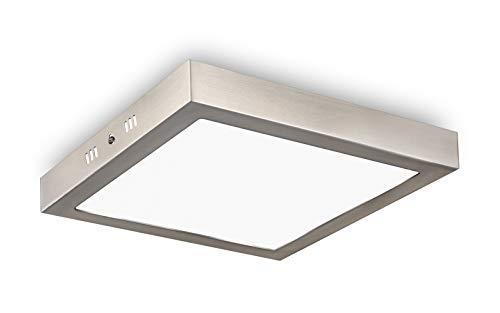 LED Deckenleuchte Quadrat - Unicozin 24W LED Panel Deckenlampe, Ersetzt 150W Glühbirne, Warmweiß(3000K), 2000LM, 29.5x3.8cm, Nicht Dimmbar, Metall Rahmen Led Deckenleuchten