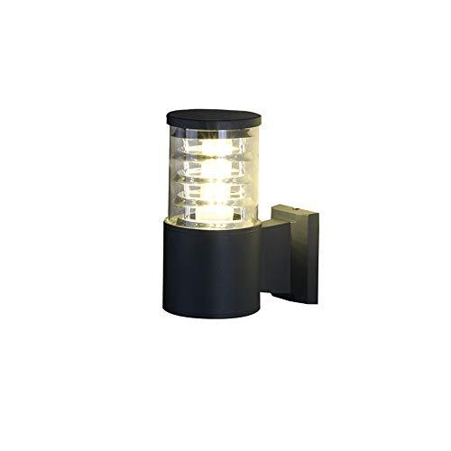 AXWT Lampe de mur en tube extérieur en aluminium mené abat-jour en acrylique E27 simple tête applique murale en aluminium